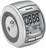 Philips aj5030 12 radio r veil avec projecteur 180 blanc tv vid o - Radio reveil projection heure plafond ...