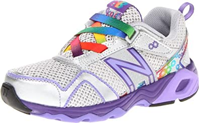 New Balance KV695 Youth Running Shoe,Silver/Purple,11 W US Little Kid