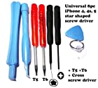 8pc T6 T5 , cross Opener Screwdriver Tool Kit for Opening BlackBerry Phones PDA MP3 Palm Treo Pocket PC Laptop iPhone Blackberry universal cell phone repair tool