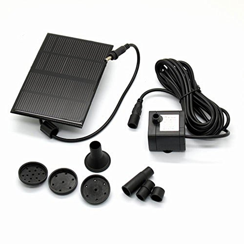 Solar Power Panel Pump Kit Garden Fountain Pool Pond Submersible Watering Plants 160L/H