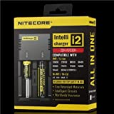 Nitecore Intellicharge i2 Microprocessor Controlled Intelligent Li-ion/NiMH Battery Charger. Suitable for Li-ion/Ni-MH/Ni-Cd