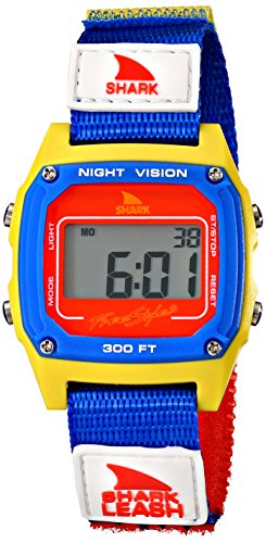 Freestyle Unisex 102243 Shark Fast Strap Retro 80′s Digital Blue and Yellow Watch