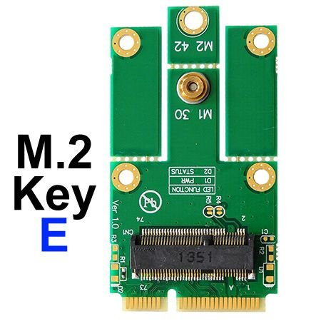 Bplus M2Mp1-E : M.2 (Ngff) Key E To Mpcie (Pcie+Usb) Adapter