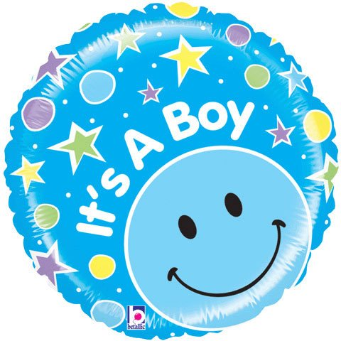21 Inch Mighty Smiley Boy Balloons