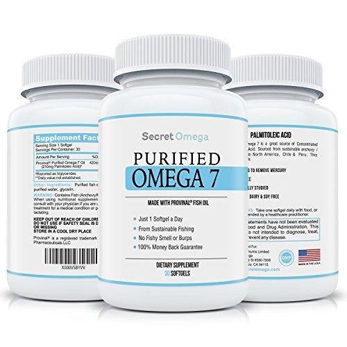 最好的纯Omega 7 鱼油50% OFF!提供你身体需要的全部Palmitoleic Acid