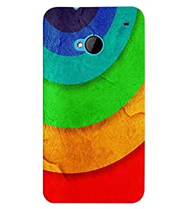 HTC ONE M7 MULTICOLOR PRINTED BACK COVER FROM GADGET LOOKS