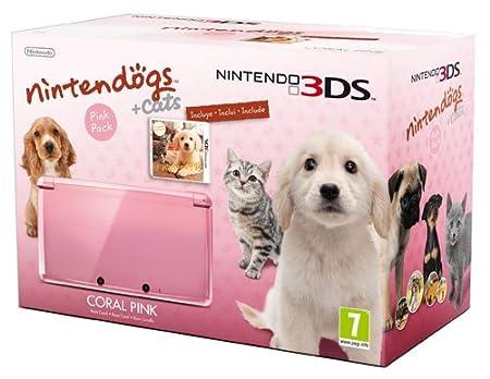 Nintendo 3DS - Console, Rosa Corallo + Nintendogs&Cat