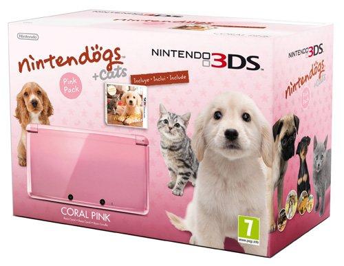 Nintendo 3DS - Console, Rosa Corallo + Nintendogs