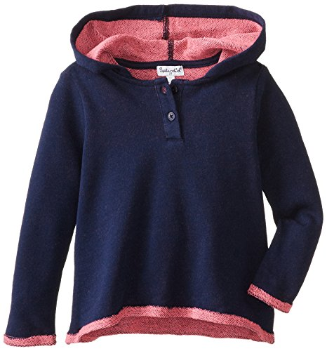 Splendid Little Girls' Active Cool Knit Hoody Tod, Navy, 3T front-212895