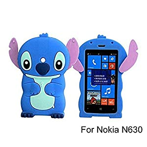 N630 Case,N635 Case, Anya 3D Cute Lovely Cartoon Animal Series Style Soft Rubber Silicone Shell Case Cover for Nokia Lumia 630 635 at Gotham City Store