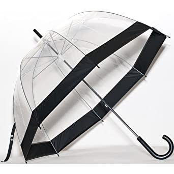 Clear Bubble Umbrella Color: Black Trim