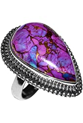 Xtremegems Copper Purple Turquoise 925 Sterling Silver Ring Jewelry Size 6.5 JJ1684
