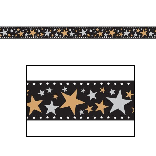 Star Filmstrip Poly Decorating Material Party Accessory (1 count) (1/Pkg)