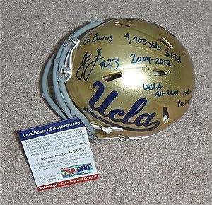 Johnathan Franklin Signed CAREER STATS UCLA Mini Helmet RookieGraph R80524 - PSA DNA... by Sports+Memorabilia