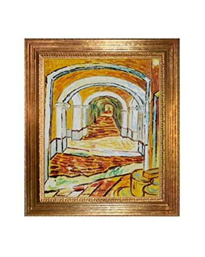 Vincent Van Gogh Corridor Of Saint-Paul Asylum In Saint-Remy Hand-Painted Reproduction