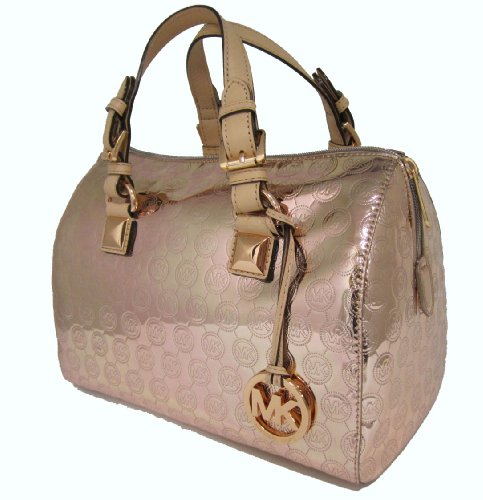 Michael Kors Grayson Satchel Bag Rose Gold