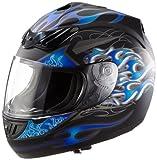 Protectwear H-510-BL Motorbike Helmet Matte Blue / Black
