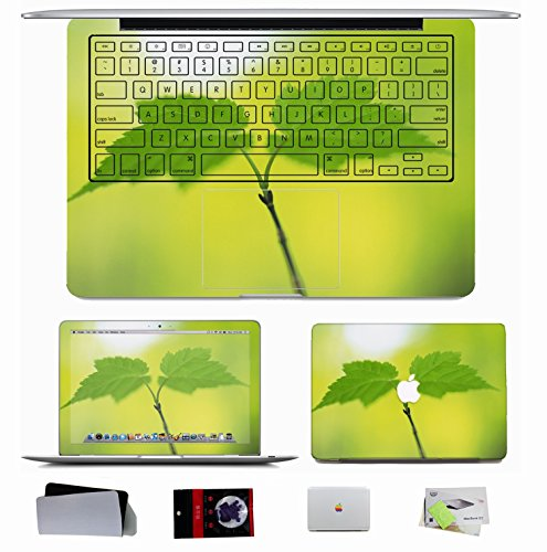 10 Pcs Apple Macbook Pro/Air 11 13 15 Decal Cover Skin - Nature Leaves Tea Leaves Nature Plants Green Sunlight Drinks