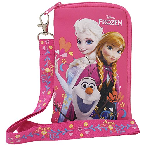 Disney Frozen Elsa Anna and Olaf Hot Pink Lanyard with Detachable Coin Purse (1 Lanyard)