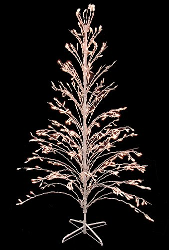 6′ Clear Lighted Christmas Twig Tree Outdoor