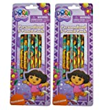Dora The Explorer Stationary - 12 pc Dora the Explorer Pencil Set