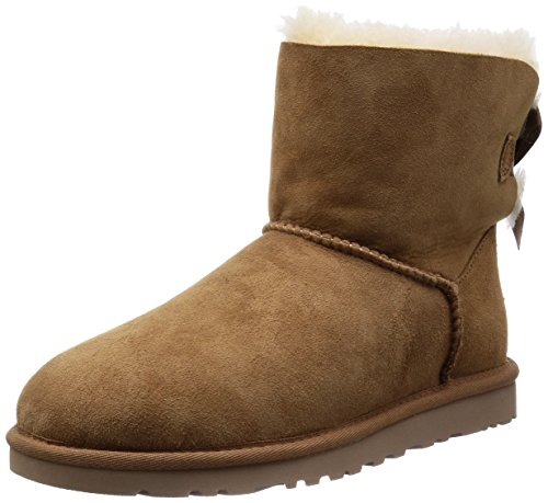 Ugg Mini Bailey Bow, Stivali, Donna, Marrone (Chestnut), 39