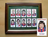 CRYSTAL PALACE HEROES AND LEGENDS FRAMED CARICATURE CARD SET