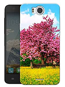 "Spring Tree Printed Designer Mobile Back Cover For ""Google Infocus M530"" By Humor Gang (3D, Matte Finish, Premium Quality, Protective Snap On Slim Hard Phone Case, Multi Color)"