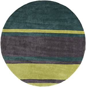Amazon.com: 8' Blocco Striscia Green and Charcoal Gray Round Hand