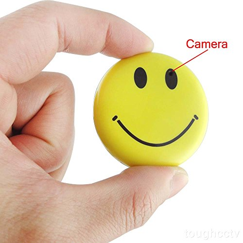 Learn More About Toughsty™ 8GB Color Smile Face Badge Hidden Camera Realtime Mini SD Card DVR Camc...