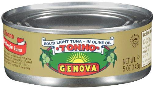 Chicken Of The Sea Genova Tonno Tuna In Olive Oil, Solid Light Premium, 5 Ounce (Pack Of 24)