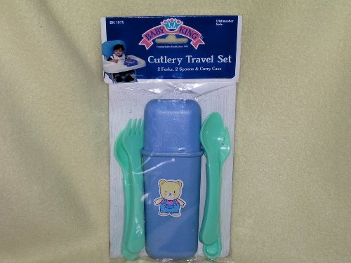 Baby King Cutlery Travel Blue