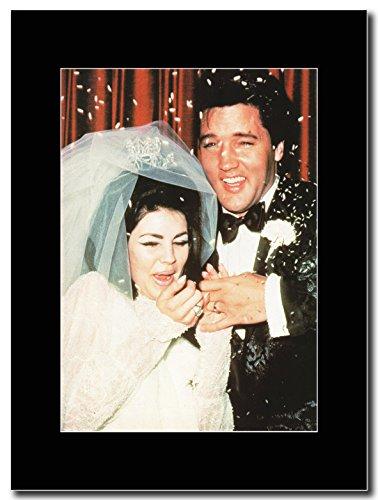 Elvis Presley _Wedding Day 1967 Magazine Promo su un supporto, colore: nero