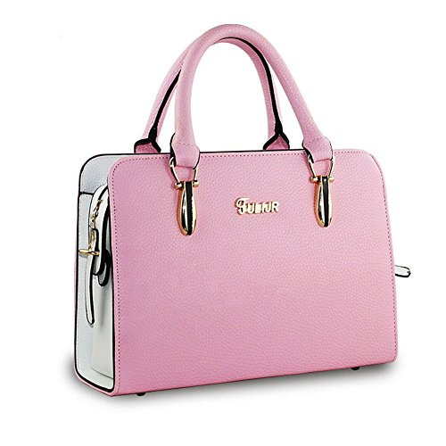 DELEY Donne Fascino Grande Capacità Top Handle Tote Handbag OL Tracolla Valigetta Borsa Borsetta Satchel Bag Rosa