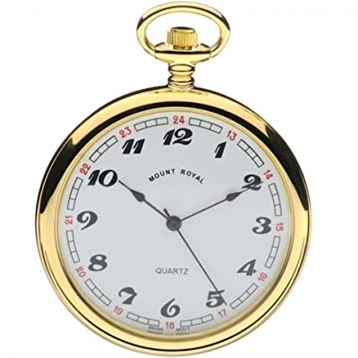 Mount Royal Pocket Watch B1 Gold Plated Open Face