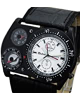 Oulm Men Militery Army Outdoor Sport Quartz Analog Wrist Watch Compass Thermometer