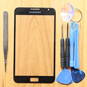 Black Front Screen Glass Lens Replacement For Samsung Galaxy Note i9220 N7000 GT