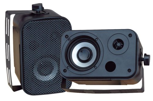 Pyle Home Pdwr30B 3.5-Inch Indoor/Outdoor Waterproof Speakers (Black)