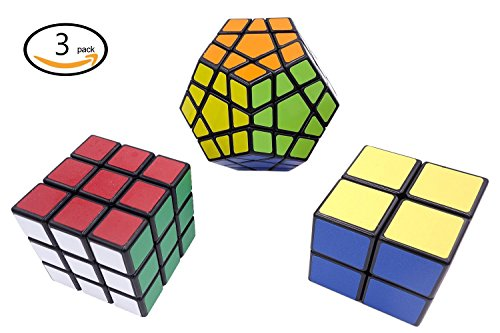 Ottiman Cube Puzzle Bundle Pack-Interesting Fun Stickerless Magic Cube, Smooth Turning Durable with Vivid Colors, Children Kids Brain Teaser & Education Cube Speed Cube Collection (Track Magic Cleaner compare prices)