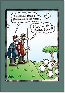 Amazon.com : 8540 Wish Sheep Were Women Funny Birthday ...