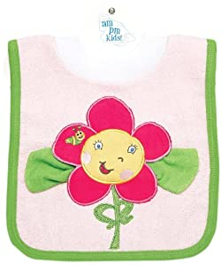AM PM Kids! Pullover Bib with Washcloth, Smiley Face with