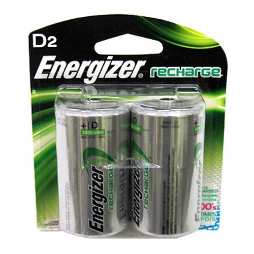 Energizer Recharge D Batteries (2 Pack) - 1