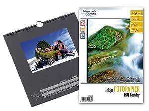 Your Design Foto-Bastelkalender, schwarz, 23 x 24 cm inkl. Fotopapier