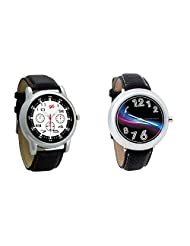 Gledati Men's Black Dial And Foster's Women's Black Dial Analog Watch Combo_ADCOMB0001831