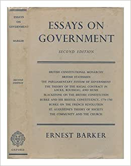 essays on government an essay on government