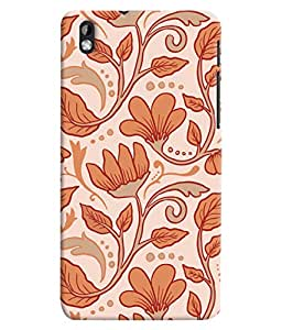 ColourCrust HTC Desire 816 Mobile Phone Back Cover With Floral Pattern Style - Durable Matte Finish Hard Plastic Slim Case