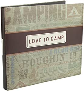 Karen Foster Design Love to Camp Camping Themed Scrapbook Album with Page Protectors
