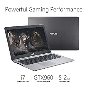 ASUS K501UW 15.6-inch FHD Gaming Laptop with US Layout Keyboard (Intel Core i7, GTX 960M, 8GB DDR4, 512GB SSD)