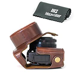 MegaGear 'Ever Ready' Protective Leather Camera Case, Bag for Case for Canon PowerShot G1X Mark II Digital Camera...