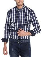 SIR RAYMOND TAILOR Camisa Hombre (Azul / Negro)